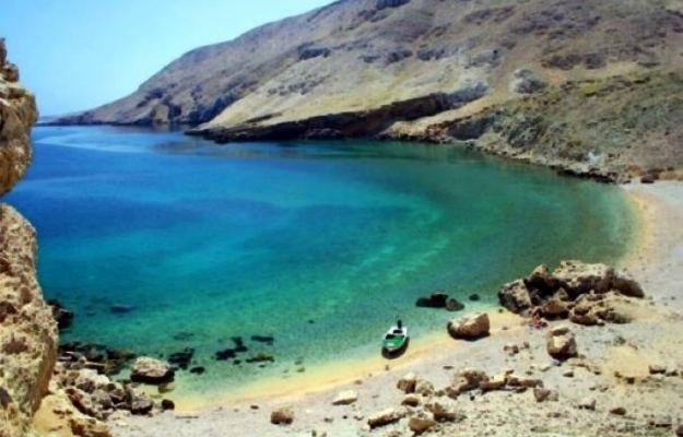 Secret beach on Pag Island
