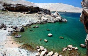 Rocky beach Pag Island