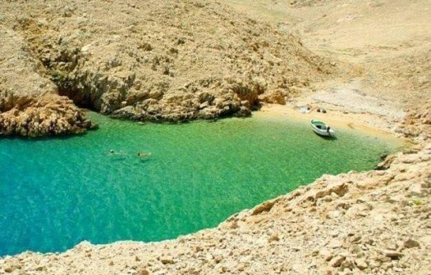 Tiny hidden beach on Pag Island